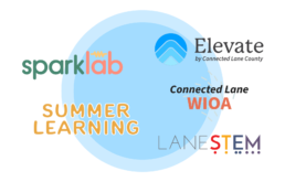Connected Lane County Programs include Elevate, Summer Learning, WIOA, Lane STEM & SparkLab.